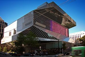 Seattle Public Library 4th Ave day by Steven Pavlov