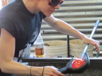 Watch glass blowing at Avalon in West Seattle