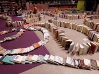 Seattle Public Library breaks world record for longest book domino chain