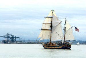 Tall ship Hawaiian Chieftain in Commencement Bay Tacoma