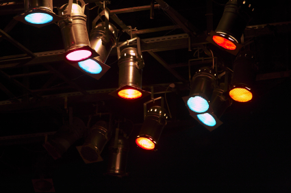 backstage theater lights