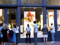 Explore new local art in storefronts throughout Seattle