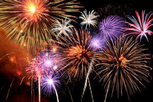 Fireworks bursting