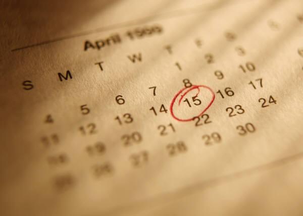 irs income tax calendar april 15