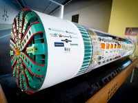 Big Bertha tunneling machine model WSDOT photo