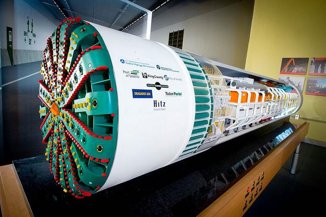 Big Bertha tunneling machine model WSDOT photo