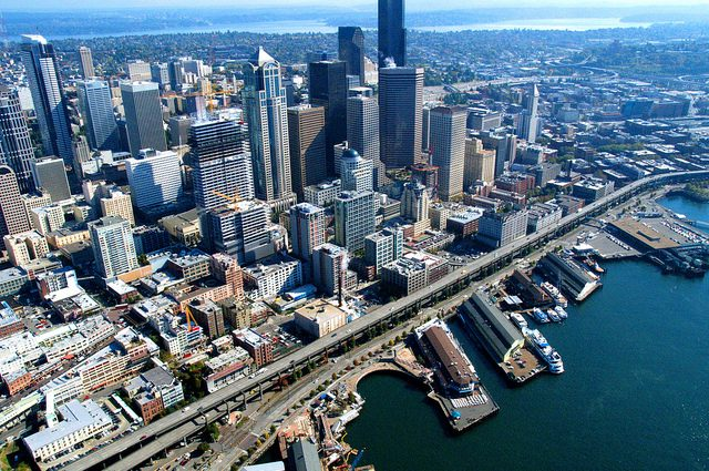 Seattle waterfront WSDOT photo