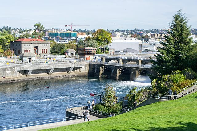 Ballard Chittenden Locks from Commodore Park