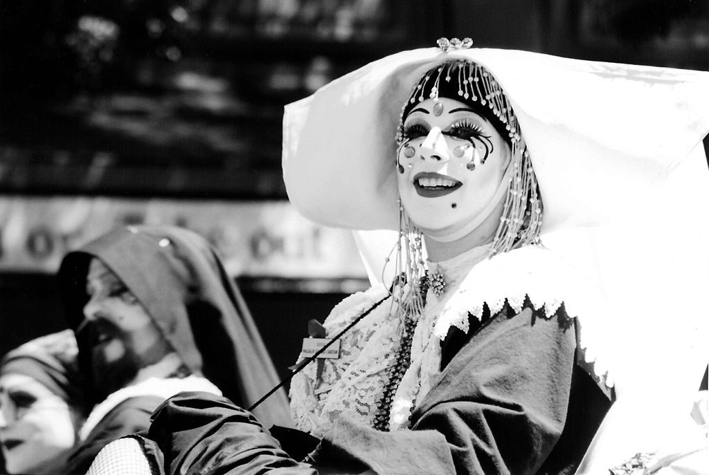 Sisters of Perpetual Indulgence, annual Seattle LGBT Pride parade, 1995 photo by Joe Mabel