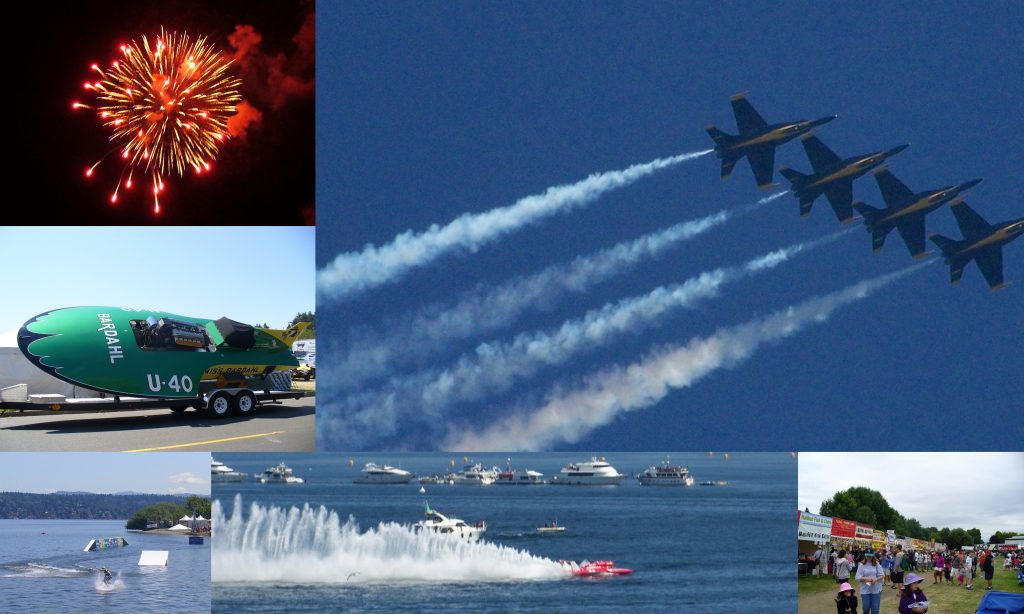 Seafair Weekend events photo collage