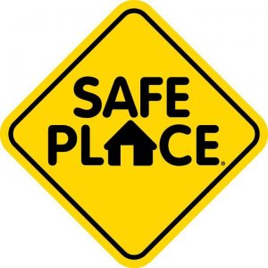 safe place yellow sign
