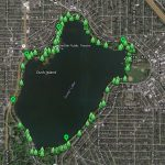 Green Lake trees walking map