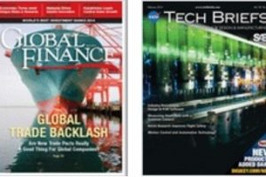 A variety of technical magazine covers