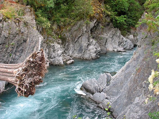 Elwha River at Goblins Gate photo by Jeff Taylor
