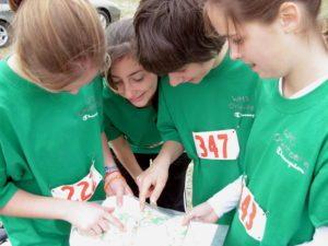 Cascade Orienteering girl group