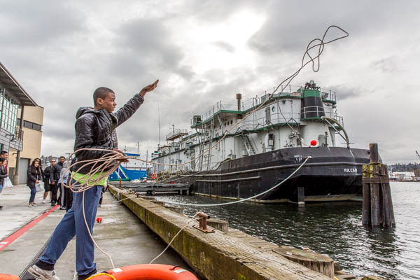 Seattle Maritime Festival line toss