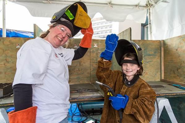Seattle Maritime Festival welding practice