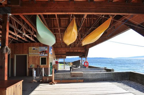 Boathouse at the historic Cama Beach Resort. Photo by Joe Mabel (CC3)