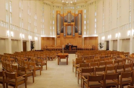 Architectural tours explore the shape of our communities. Interior of historic Seattle Plymouth Congregational Church.