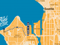 Alki Art Fair map 2017 (fair use)