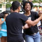 Free summmer dance lessons and dancing outdoors in Seattle