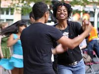 Free summer dance lessons outdoors in Seattle