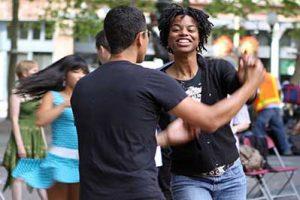 Dancing til Dusk swing dancers
