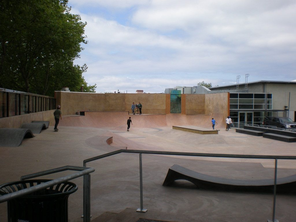 Seattle Center skate park photo by eyemage (CC2)