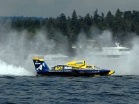 Spirit of the Navy hydroplane at Seattle Seafair By U.S. Navy photo by 2nd Class Eric J. Rowley [Public domain] via Wikimedia Commons