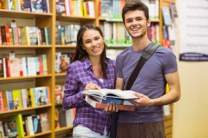 students in the bookstore