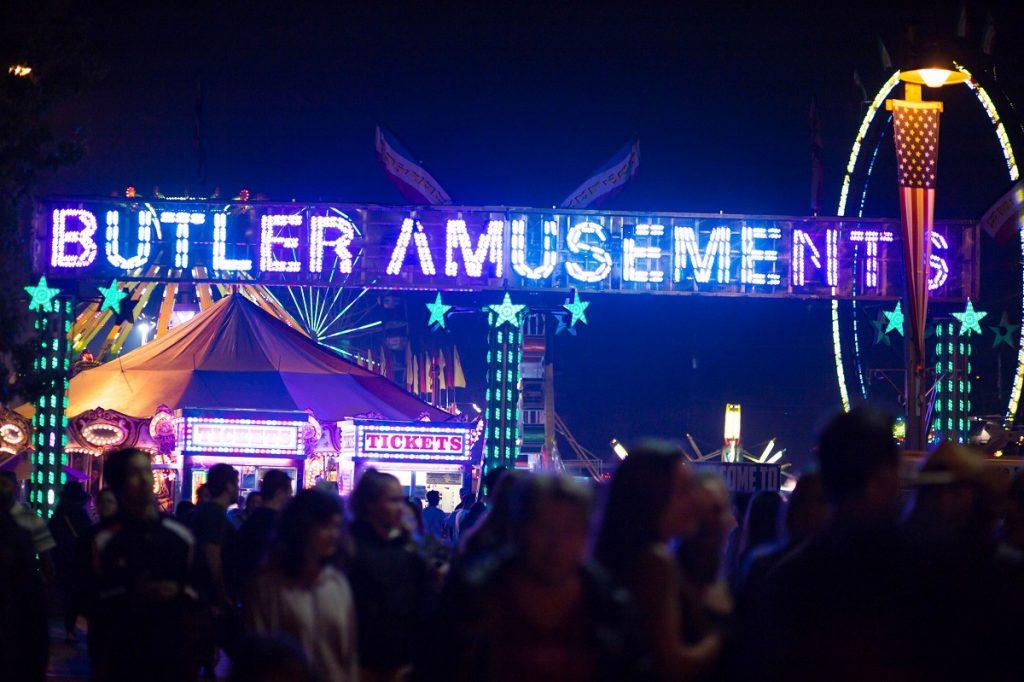 Evergreen State Fair Butler Amusement carnival rides