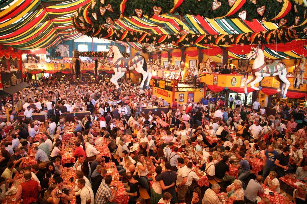 Munich Oktoberfest beer pavilion