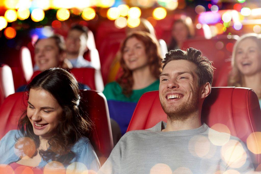 theater crowd enjoying a movie