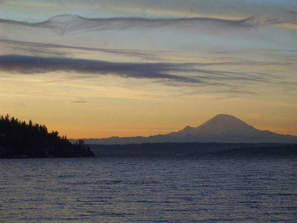 Mount Rainier from Seward Park photo by Carrick (CC)