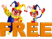 Clown with Free sign