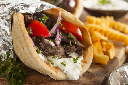 Meat Gyro with French Fries