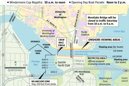 Seattle Opening Day of boating season map (WSDOT)