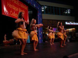 Dancers of hula hālau Ke Liko A`e O Lei Lehua at Seattle Center Festal photo by Joe Mabel (CC2.0)