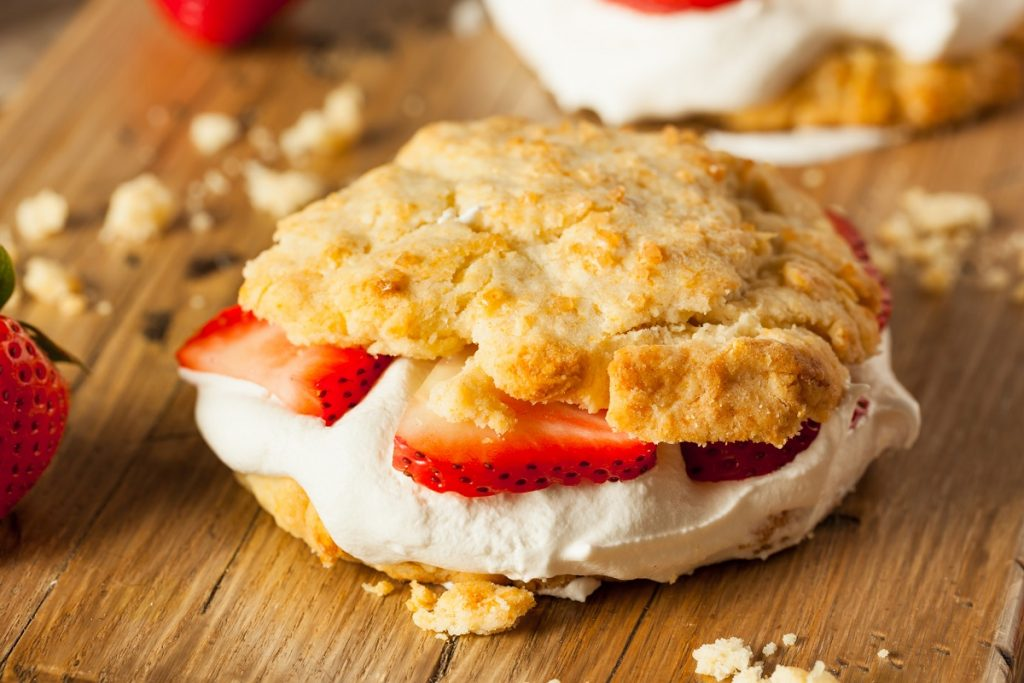 Strawberry Shortcake with Whipped Cream