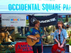 Make Music Day Seattle in Occidental Park