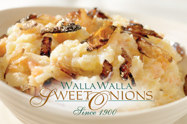 Walla Walla sweet onions mashed potatoes