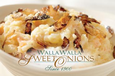 Walla Walla sweet onions mashed potatoes