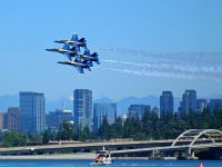 Blue Angels Navy Jets over Lake Washington Seattle