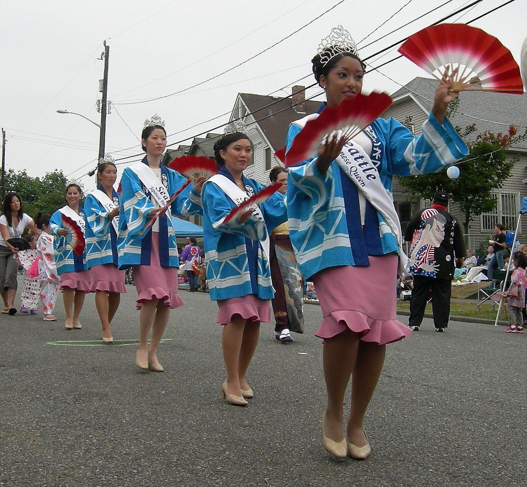 Seafair Seattle Bon Odori Festival Princessses 2007 photo by Joe Mabel