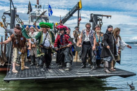 Seattle Seafair Pirates landing in West Seattle (Seafair pirates photo)
