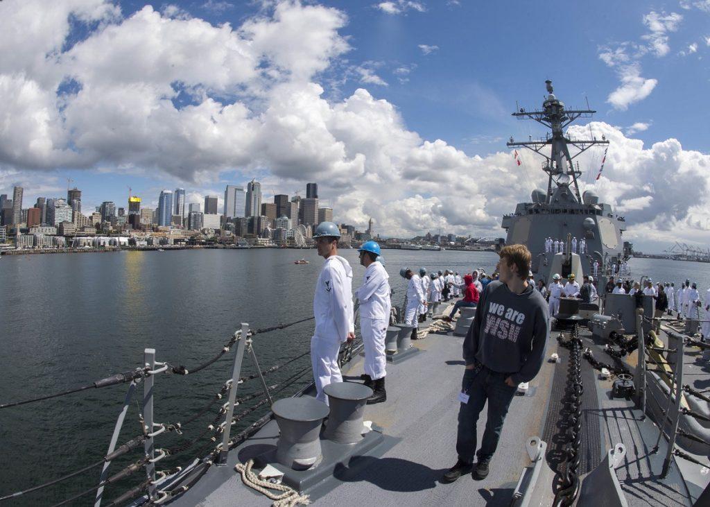 Ships Arrive In Seattle for Seafair Fleet Week