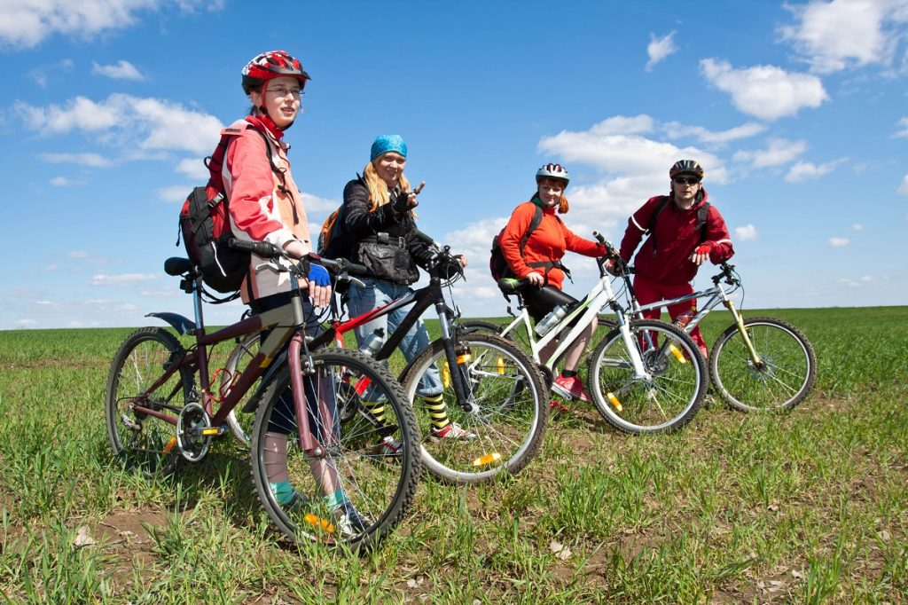 bicycle riding group