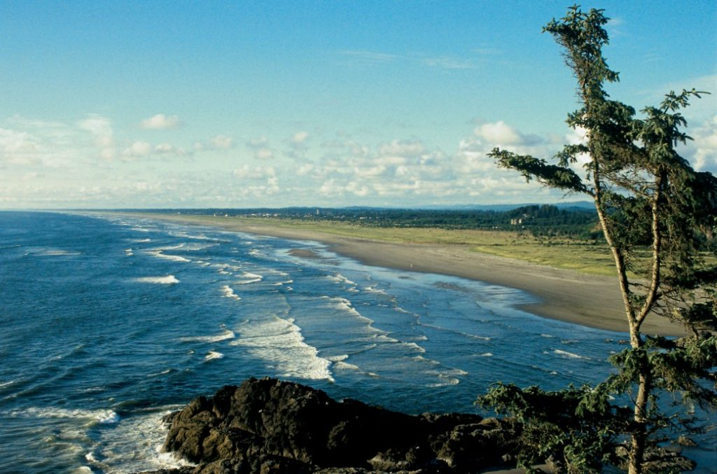 Beach on Long Beach Peninsula, Washington State
