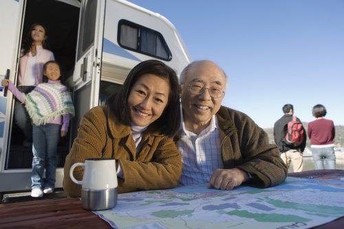 Family Road Trip in a camper