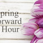 Spring ahead to daylight savings time second Sunday in March